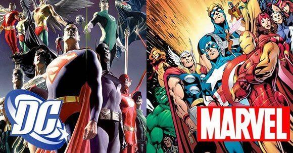 Marvel vs DC em uma batalha épica
