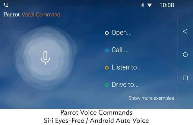 Parrot rnb6 voice commands siri android auto