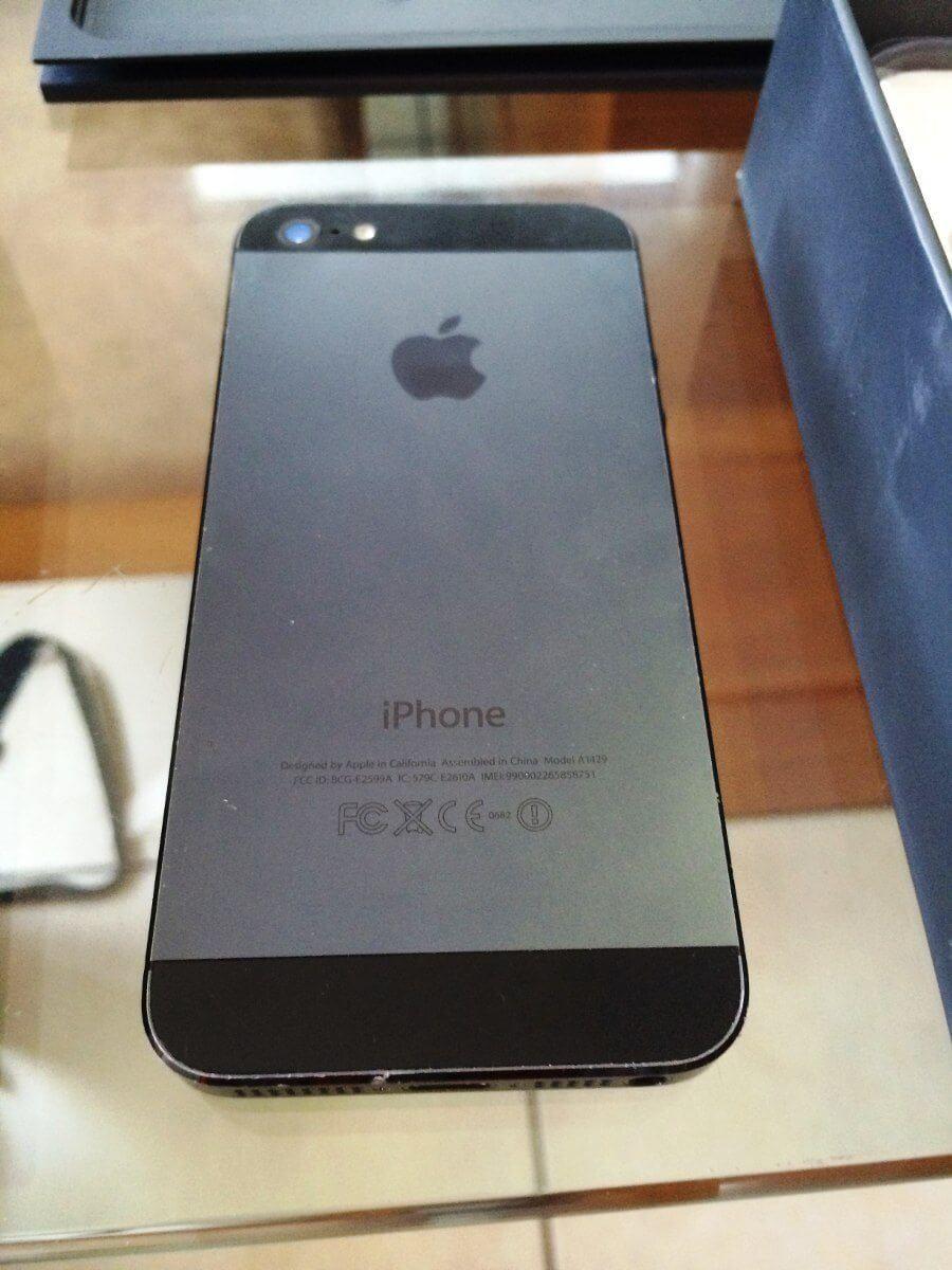 Iphone 5 16gb negro desbloqueado apple en caja completo imei 18662 mlm20159268635 092014 f