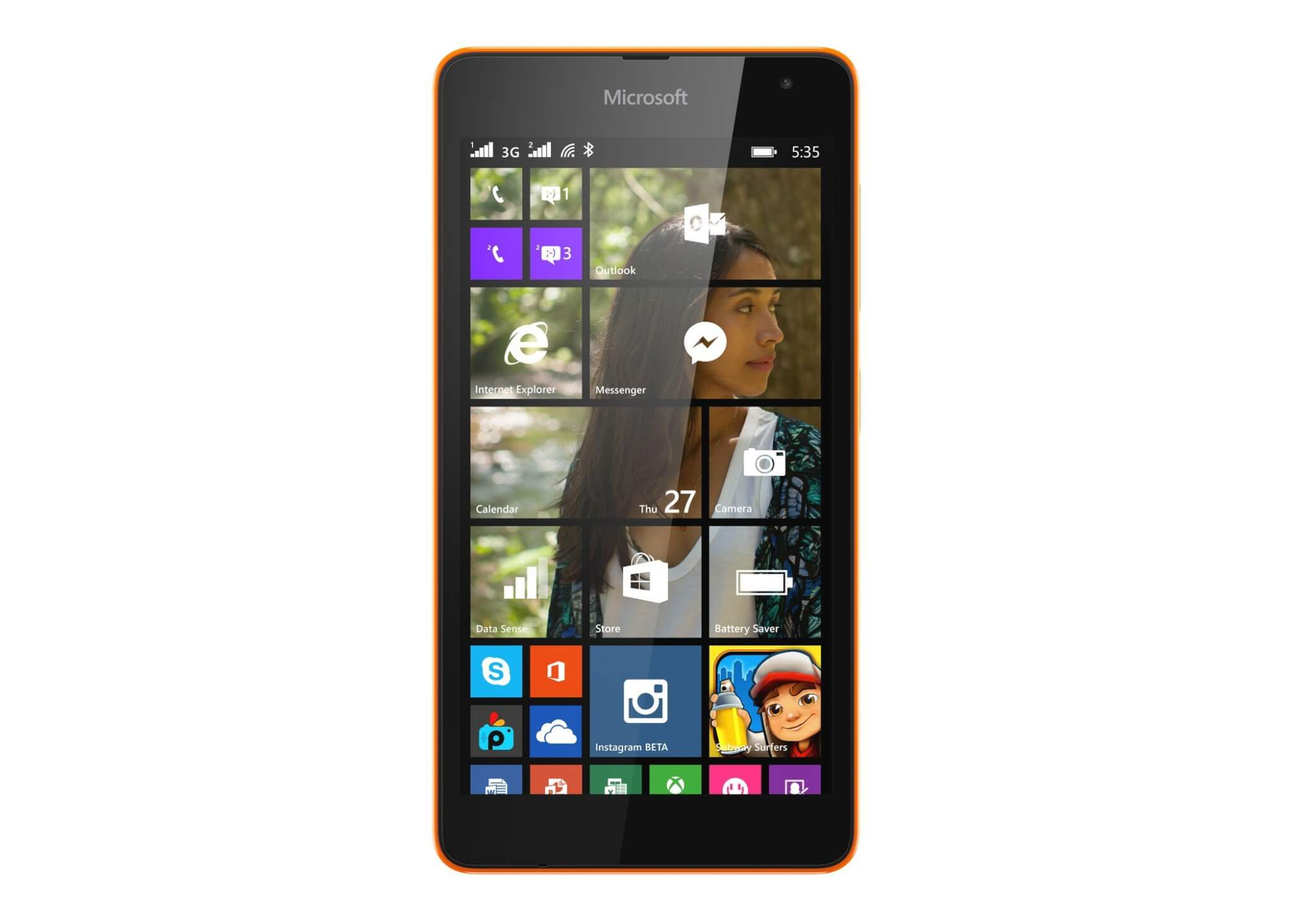 lumia535 front orange dsim