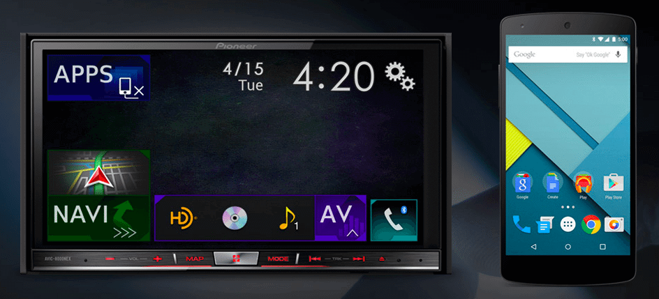 Pioneer lança aparelhos compatíveis com Android Auto e Apple Car Play
