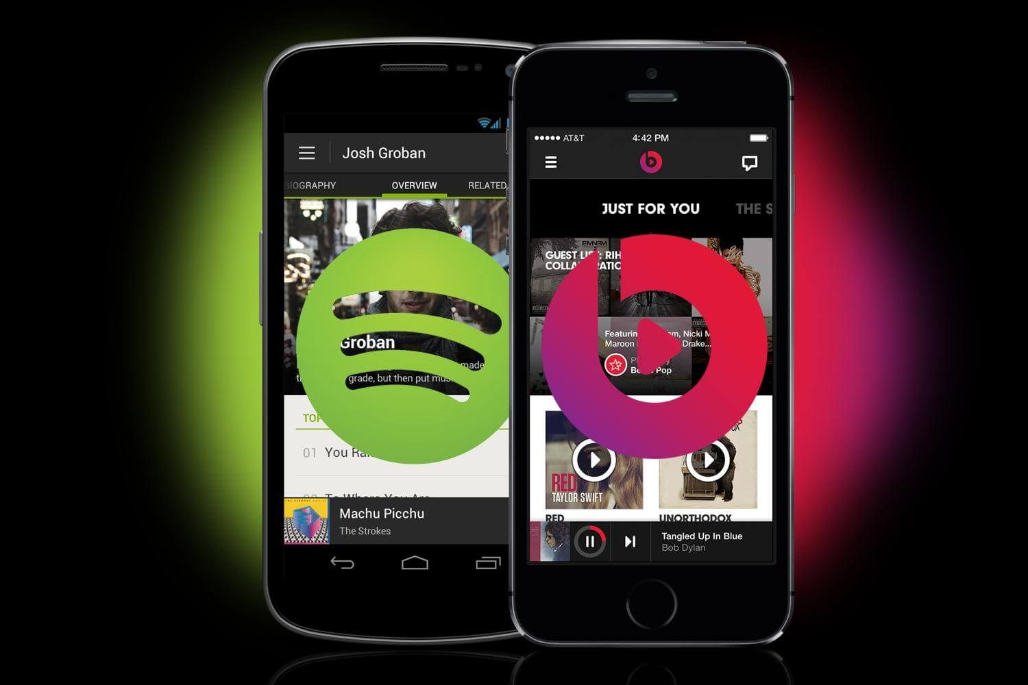 spotify vs dr dre beats music