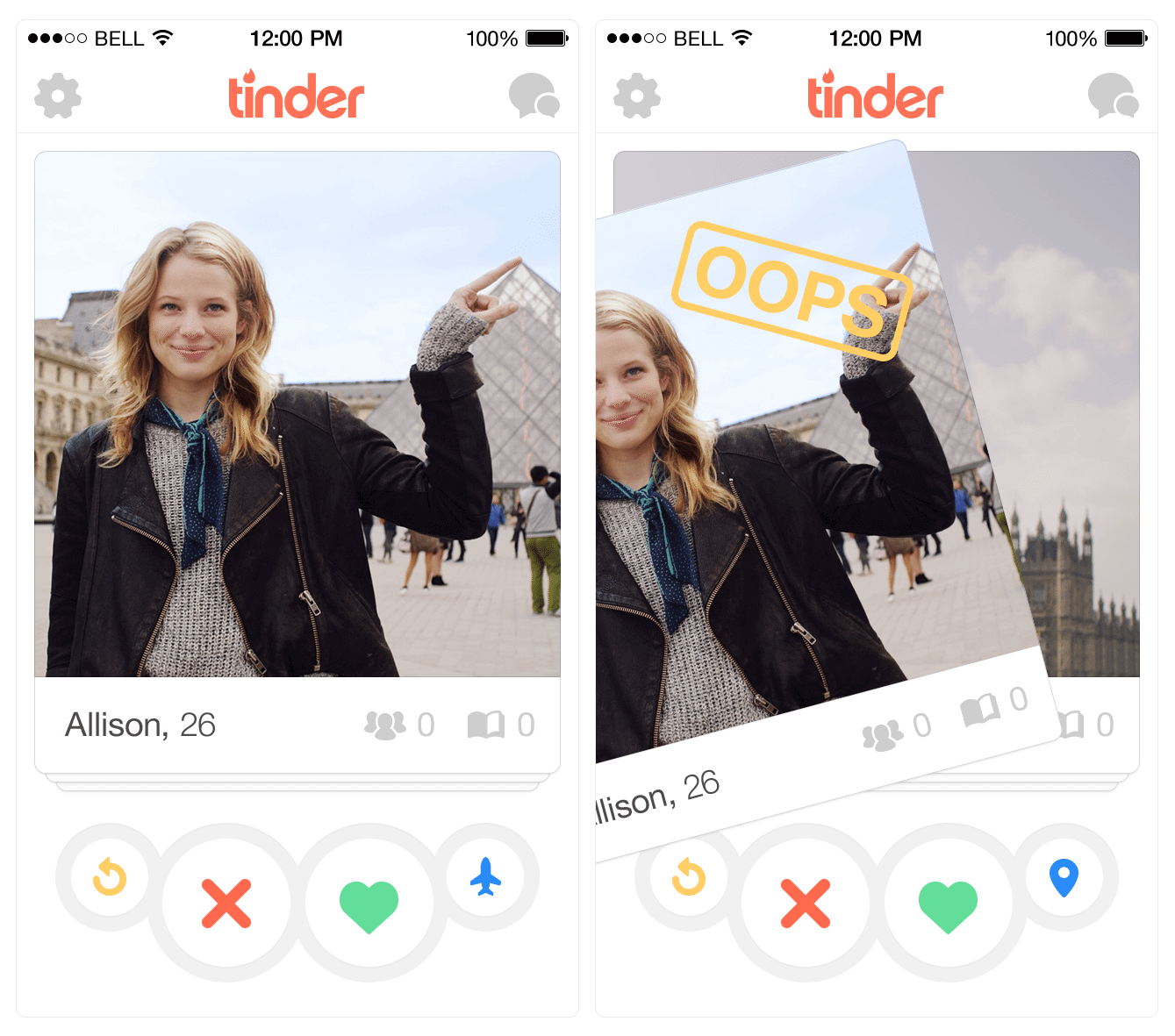 undo - Tinder lança versão Plus com opção de voltar e mudança de localização