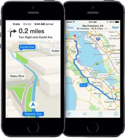 Apple maps ios 7 navigation