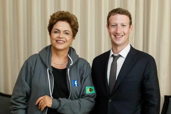 Dilma rousseff mark zuckerberg