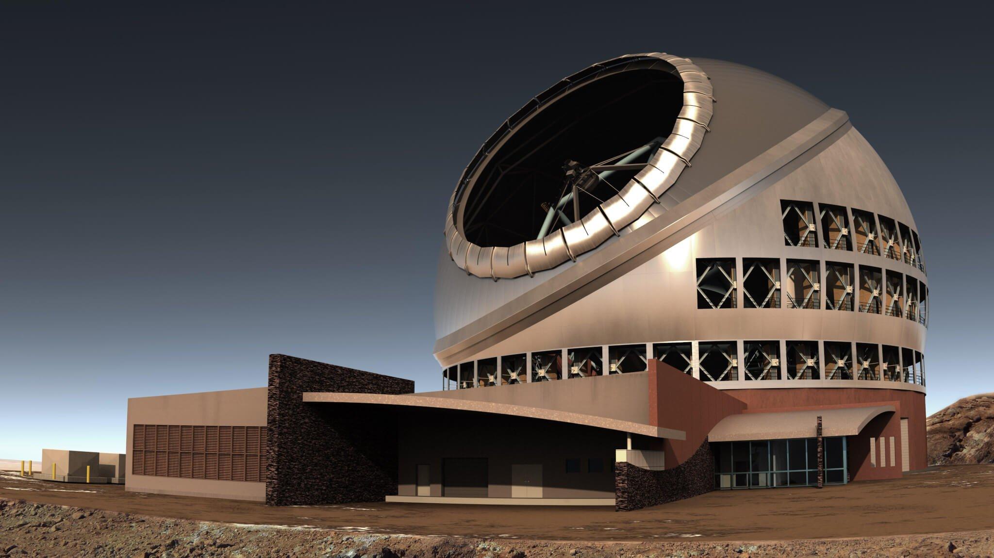 side view of tmt complex - Disputa com nativos suspende construção do maior telescópio do mundo