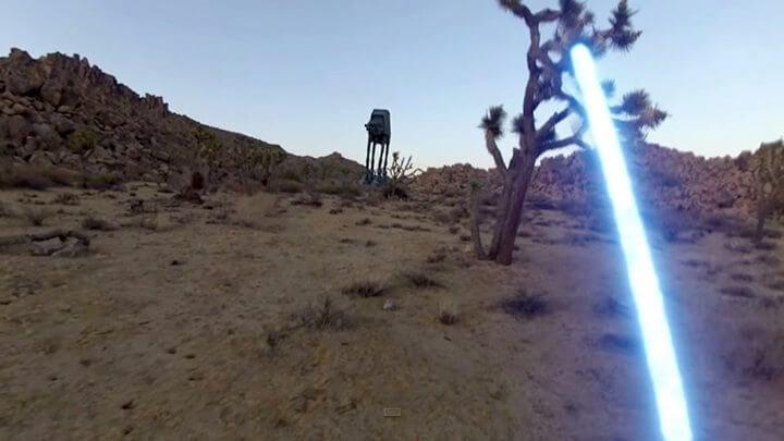 Video incrível feito com GoPro mostra a visão em primeira pessoa de um Jedi