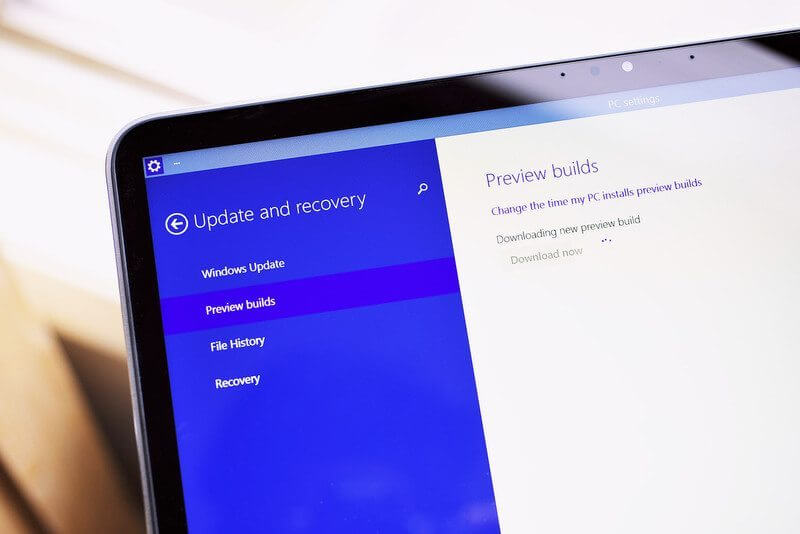 Windows 10 preview update photo