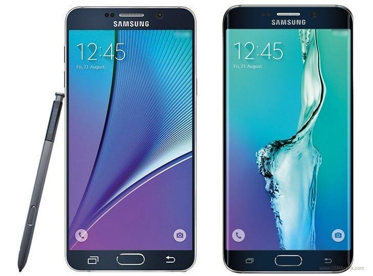 galaxy note 5 galaxy s6 edge plus samsung