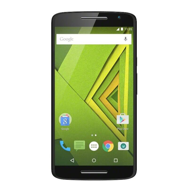 moto x play black front