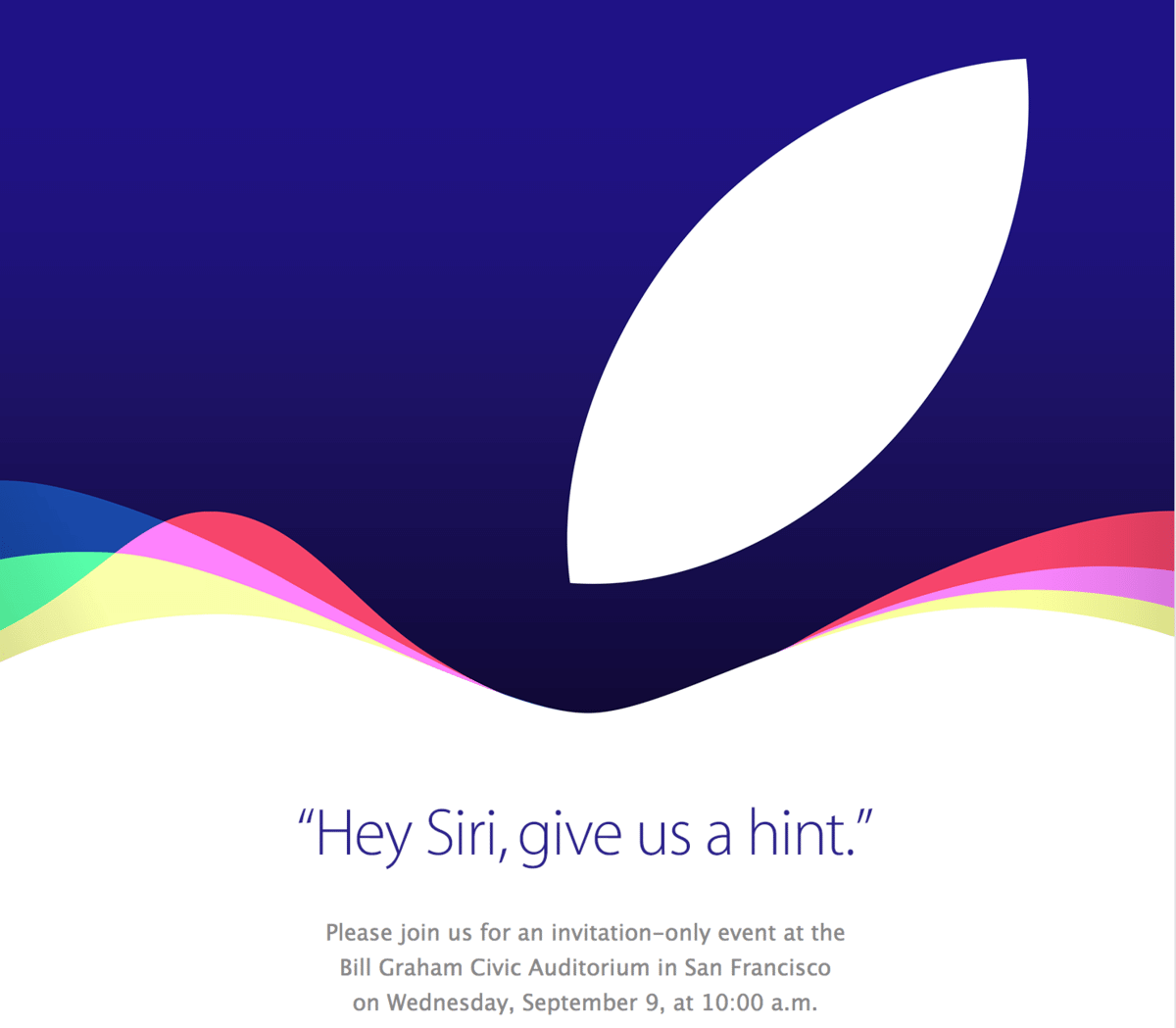 Apple evento dia 09 de Setembro