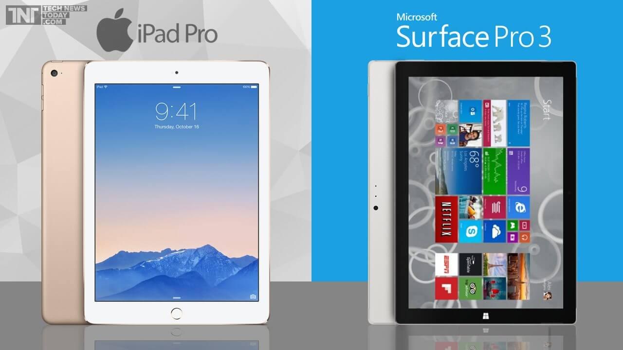 Duelo de gigantes: iPad Pro vs. Surface Pro 3