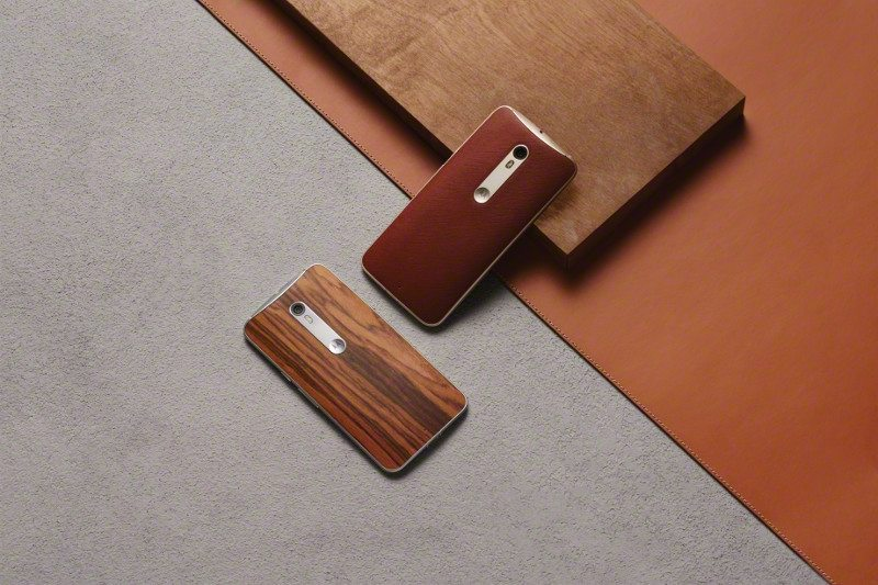 moto x style wood leather backs