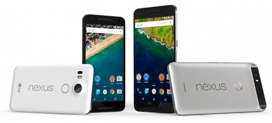 Google anuncia Nexus 5X e Nexus 6P com até 128 GB de armazenamento