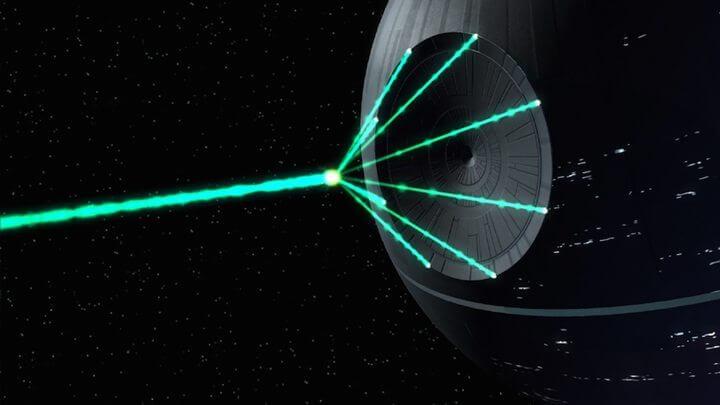 """estrela da morte real - NASA registrou uma """"Estrela da Morte"""" real obliterando um planeta"""