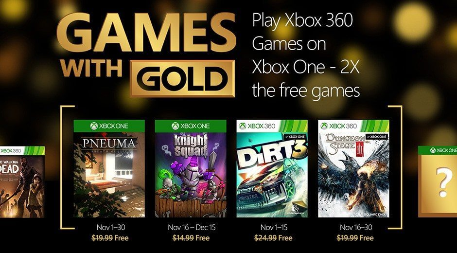 games with golg november 2015 - Games with Gold: jogos grátis para novembro 2015 e retrocompatibilidade