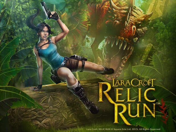 Gaming lara croft relic run artwork