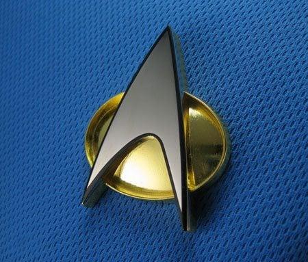 F3ba star trek tng communicator badge