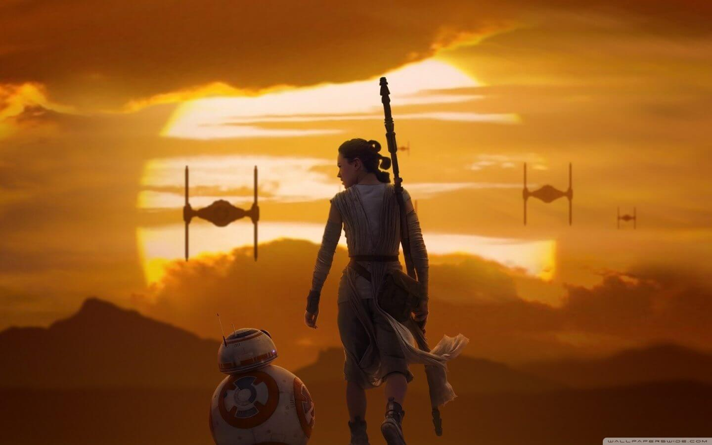 Rey bb 8 star wars the force awakens wallpaper 1440x900