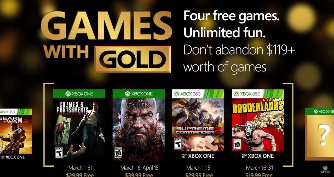 Games with gold march jogos grtis live maro 2016