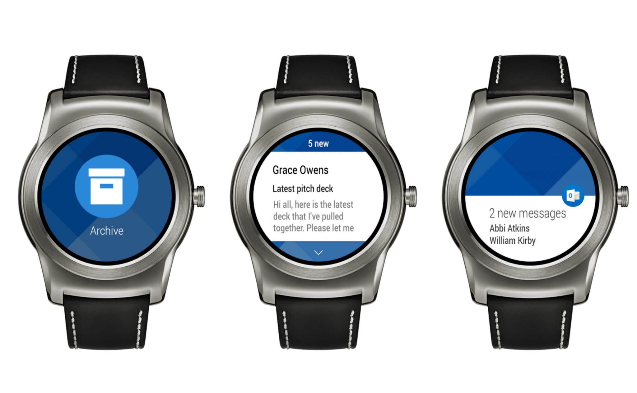 outlook para android wear