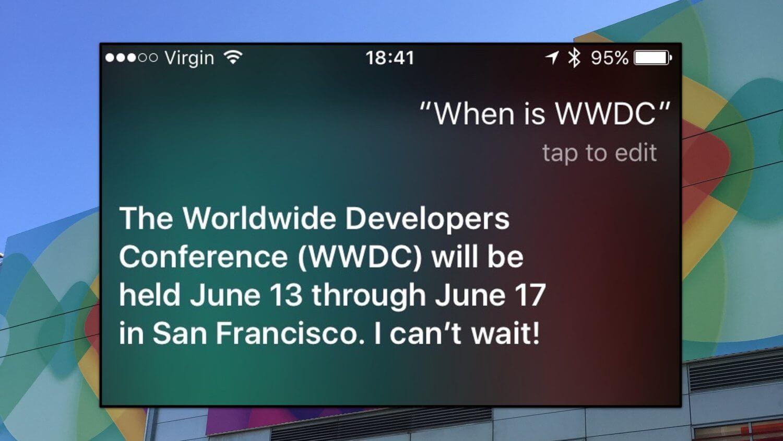 Siri revela datas da WWDC 2016 (Atualizado: Apple confirma)