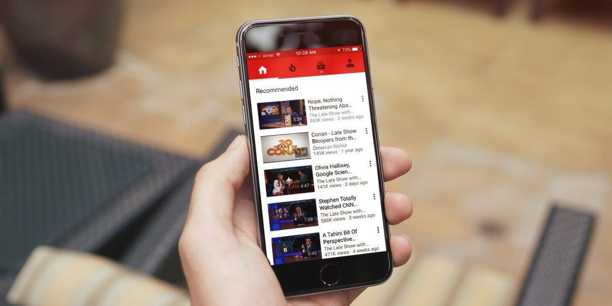 youtube iphone 1200x600 - Chegando por último, YouTube vai liberar vídeos ao vivo no iOS