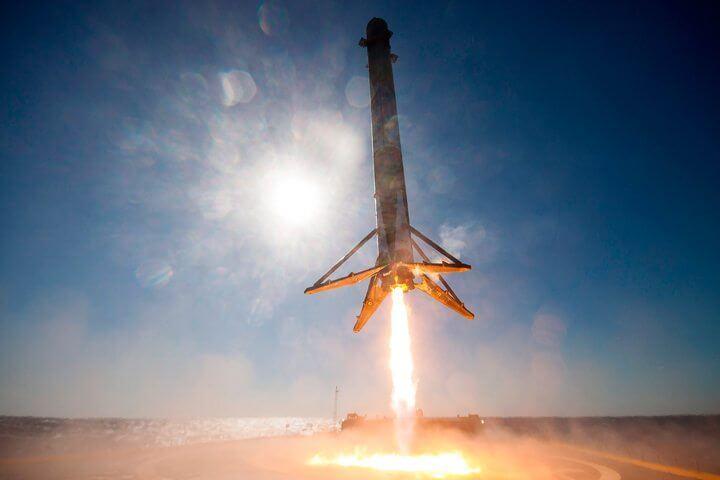 foguete da spacex falcon 9 video 360