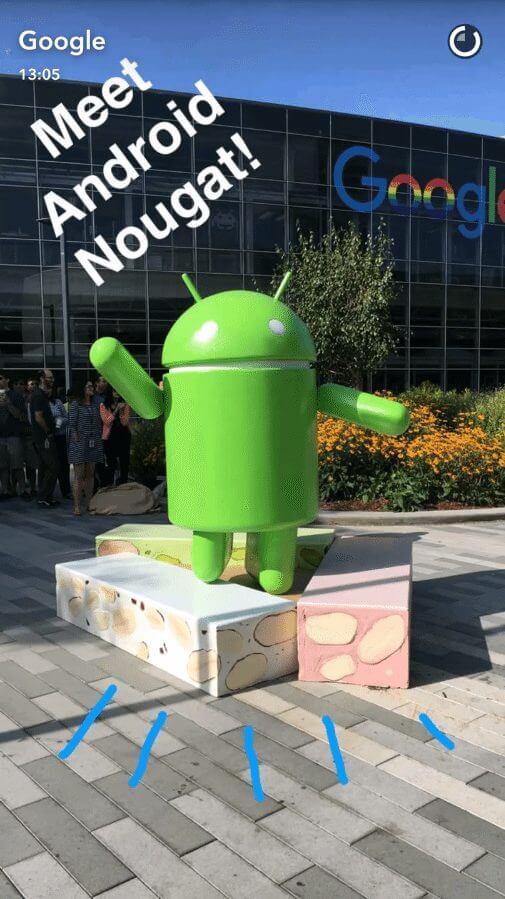 snap android nougat google