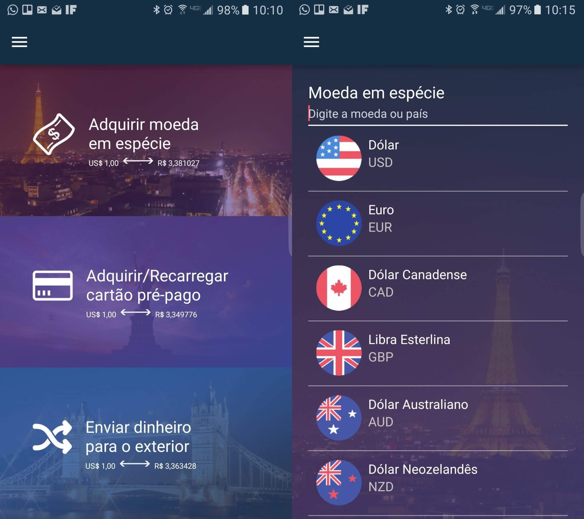 Confidence Câmbio - Novo app facilita Cotações e Compra de Moeda Estrangeira