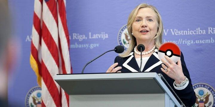 Hillary Clinton Pokémon - Capturando votos: Hillary Clinton fará evento de campanha em ginásio de Pokémon GO