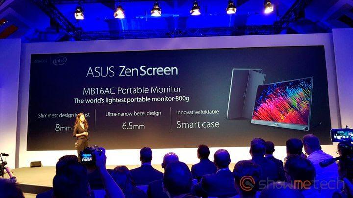 ASUS ZenScreen IFA - IFA 2016: Asus apresenta o Zenwatch 3, ZenBook 3, Transformer 3 e 3 Pro, Zenpad 3S 10 e ZenScreen