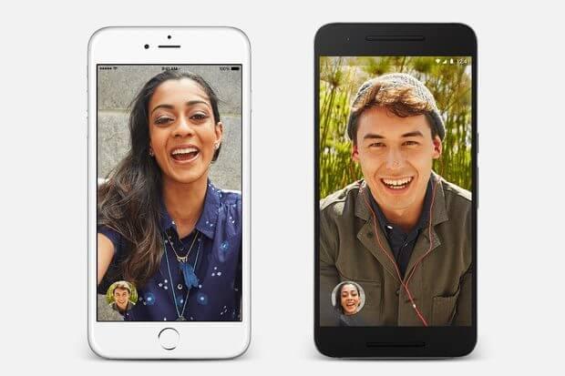 Google Duo: disponível para Androids e iPhones.