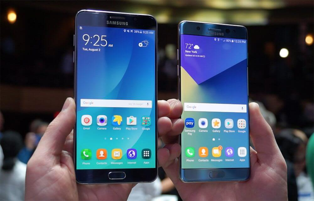 Galaxy note 7 vs galaxy note 5