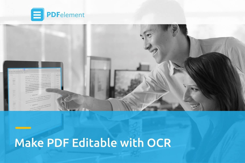 Edite documentos escaneados com a tecnologia OCR do Wondershare PDFelement