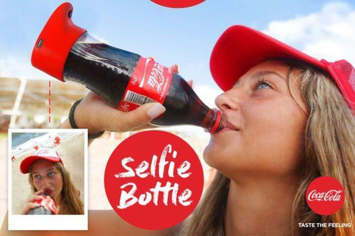 garrafa selfie coca cola