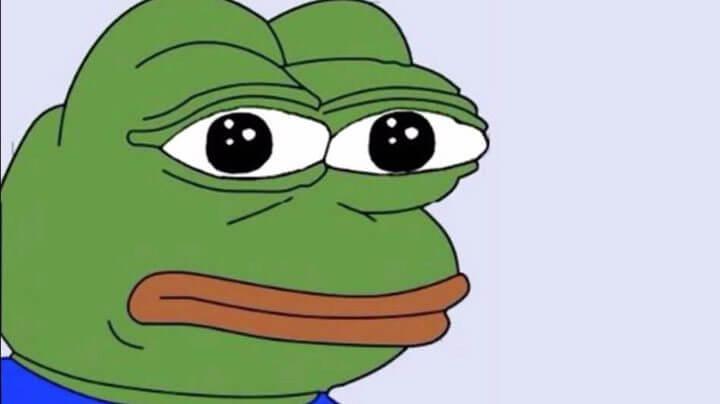 Pepe frog mito sad