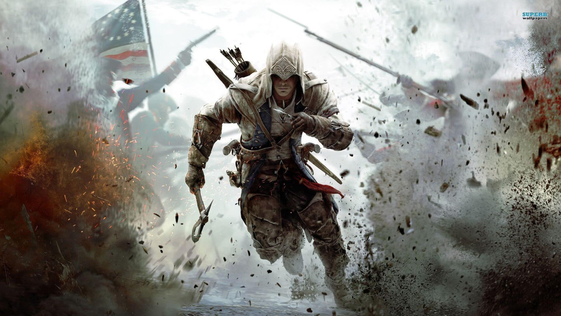 Alguém disse Assassin's Creed III grátis?