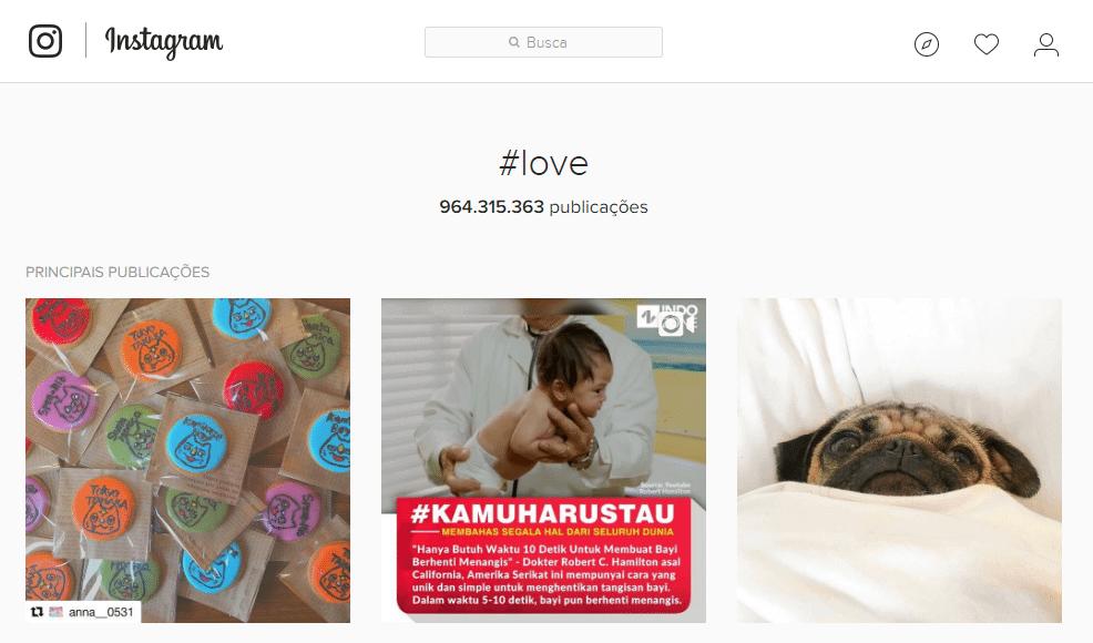 hashtag love instagram 2016 - Por que usamos #TBT e outras hashtags nas redes sociais?