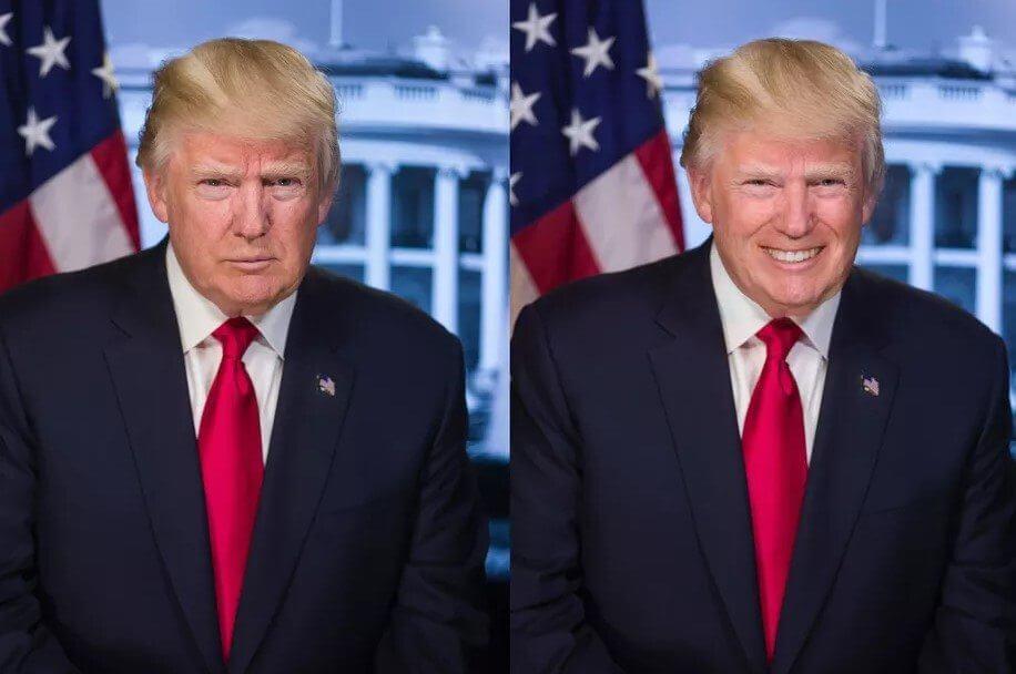 Trump faceapp
