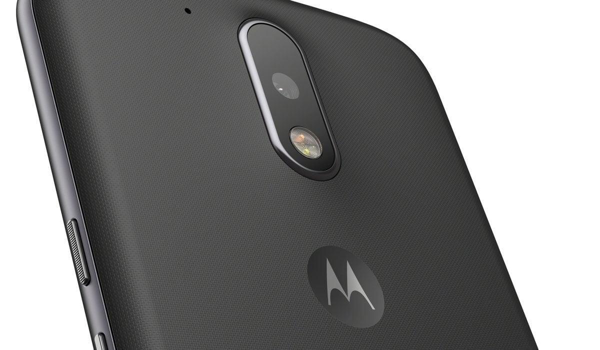 Moto g4 black back detail