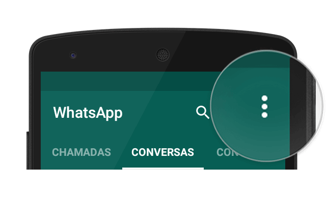 Botao de menu whatsapp