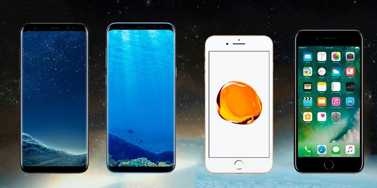 capa comparativo Galaxy S8 e iPhone7