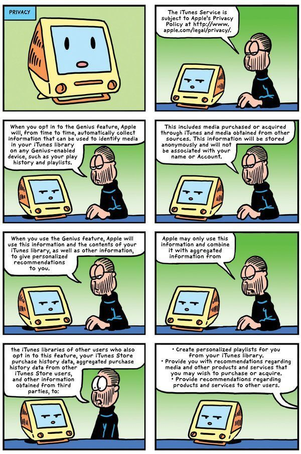 garfield terms conditions itunes