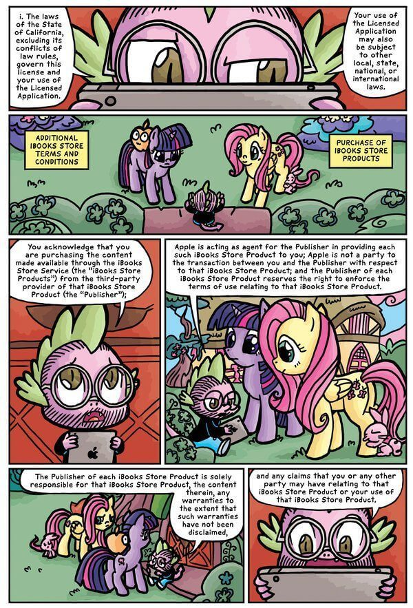 my little pony terms conditions itunes