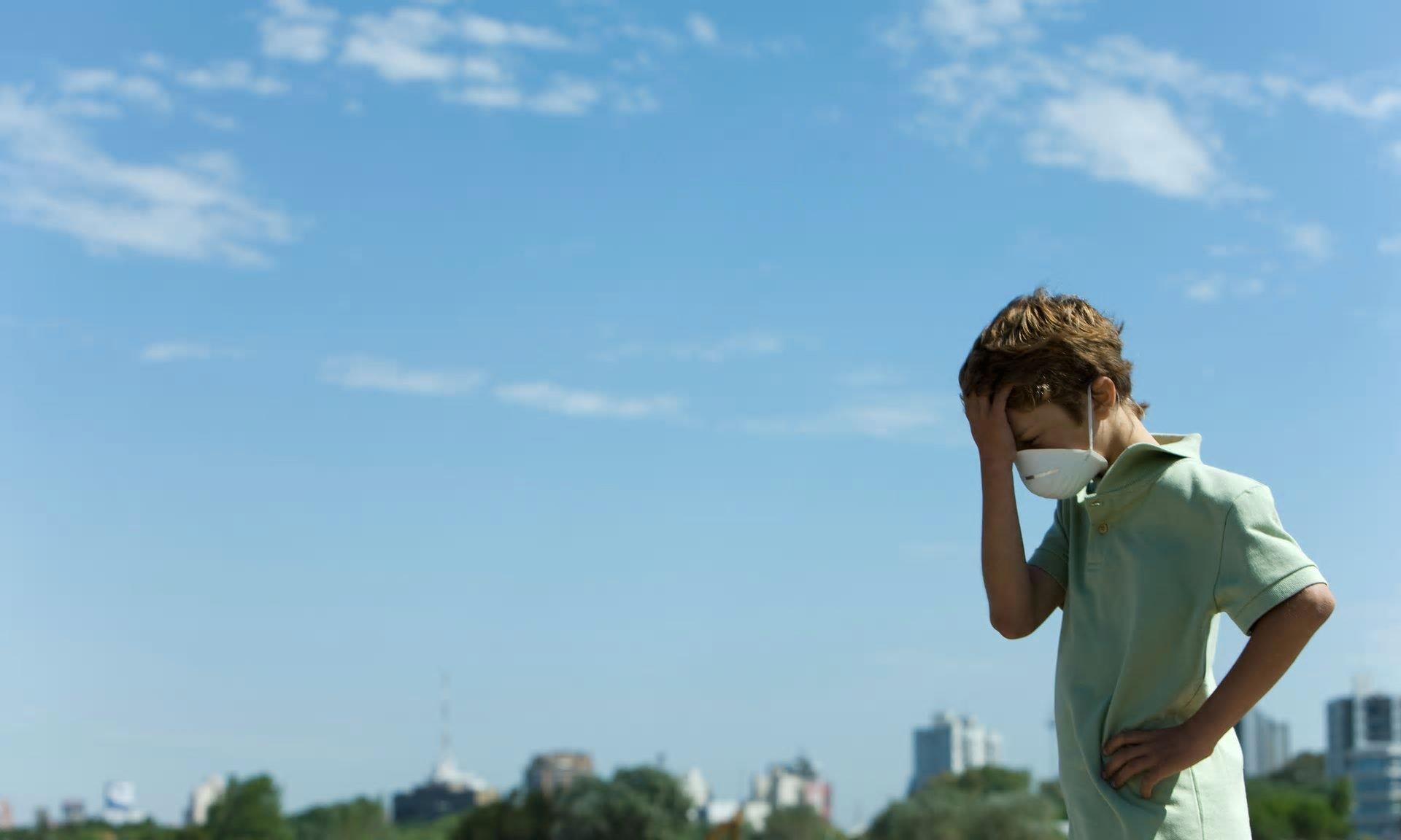 poluição criança