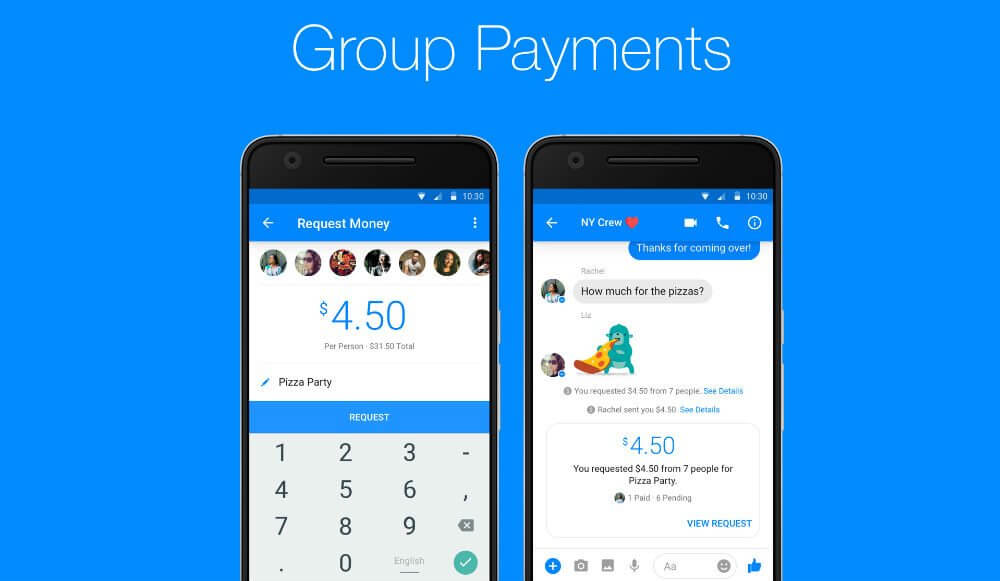 Group payments messenger
