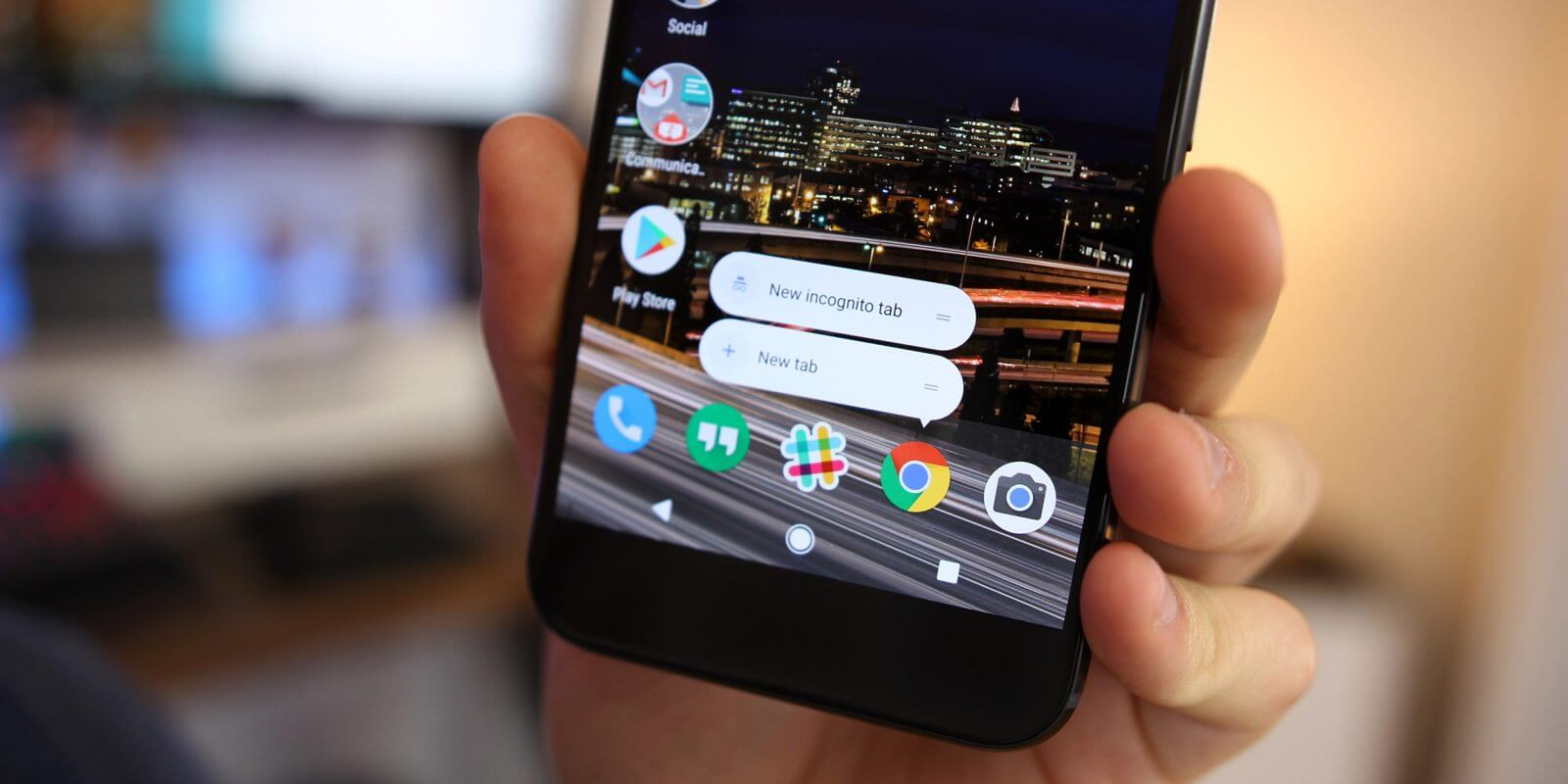 Chrome android launcher shortcuts 1
