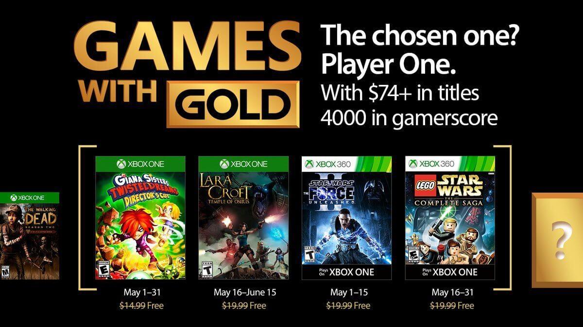 Games with Gold: jogos grátis na Live para maio de 2017