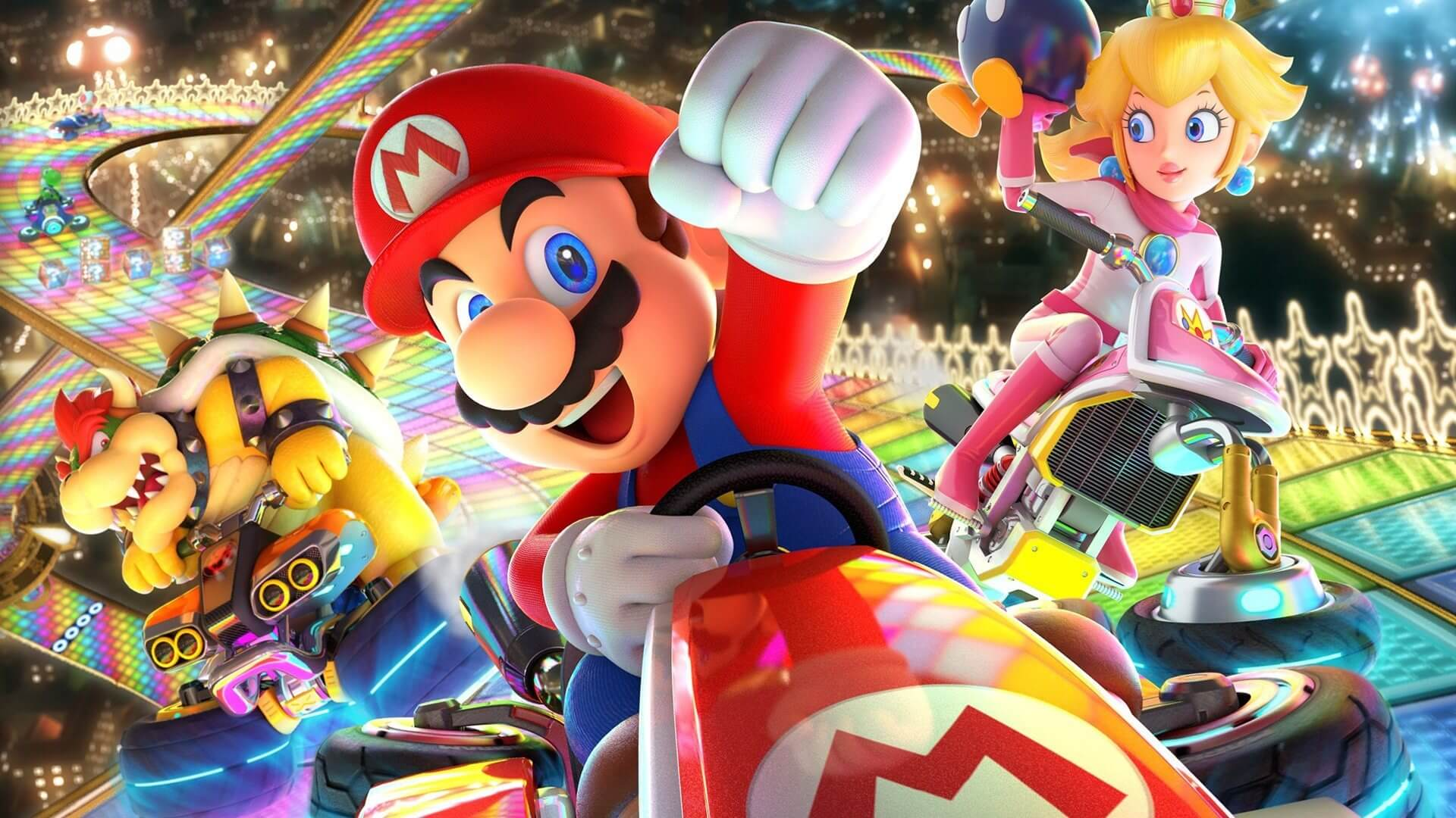 Mario kart 8 deluxe mario bowser and peach 1072